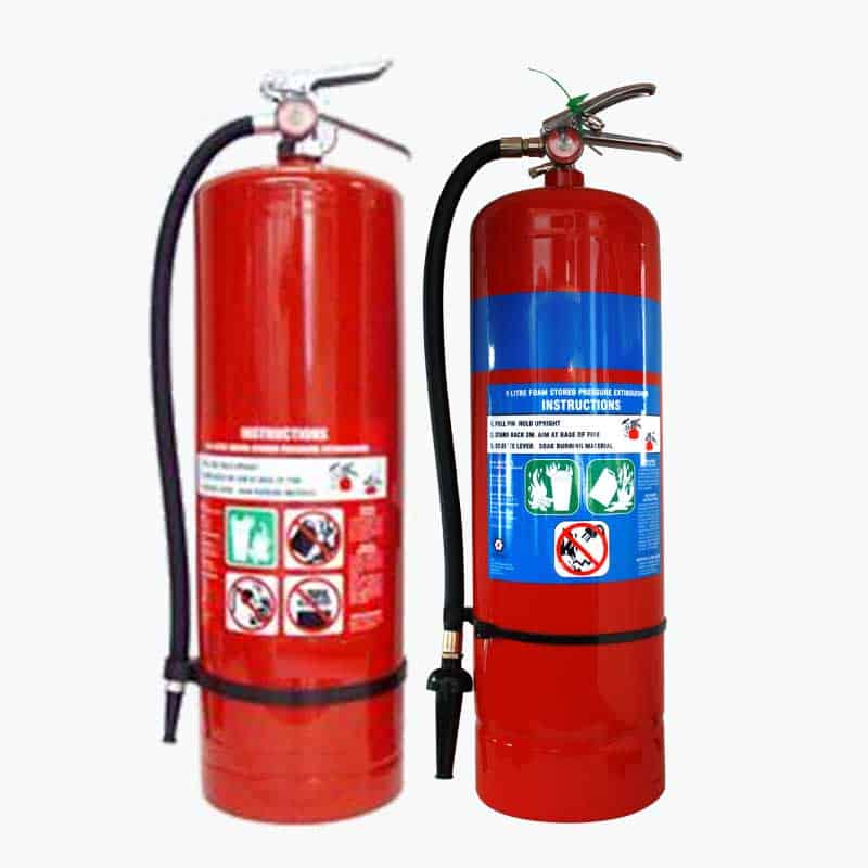 Water and Foam Fire Extinguishers